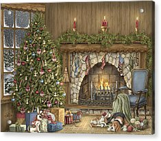 Warm Christmas Acrylic Print by Beverly Levi-Parker