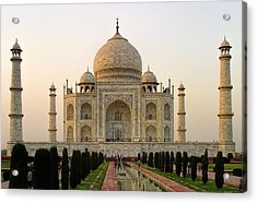 Warm Evening View Taj Mahal Acrylic Print