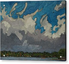 Warm Frontal Rain Acrylic Print