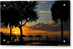 Acrylic Print featuring the photograph Warm Glowing Sunset by Richard Zentner