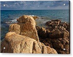 Acrylic Print featuring the photograph Warm Granite by Paul Indigo