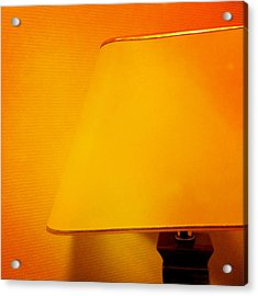 Warm Inside - Lamp With Warm Orange Light Acrylic Print