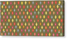 Warm Little Ikat Diamonds Acrylic Print by Sharon Turner