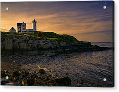 Warm Nubble Dawn Acrylic Print