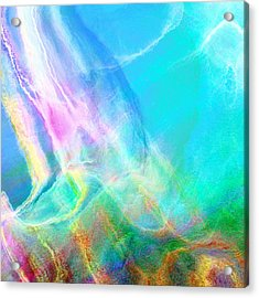 Warm Seas- Abstract Art Acrylic Print