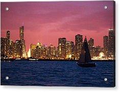 Warm Summer Night Chicago Style Acrylic Print
