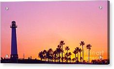 Warm Sunset Acrylic Print by Gem S Visionary