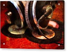 Warm Vinyl Sound Acrylic Print by Alexander Senin