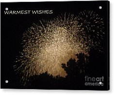 Acrylic Print featuring the photograph Warmet Wishes by Christina Verdgeline