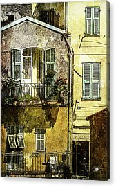 Warmth Of Old Villefranche Acrylic Print by Julie Palencia