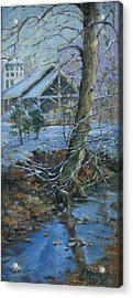 Warner Park Visitor Center Acrylic Print by Sandra Harris