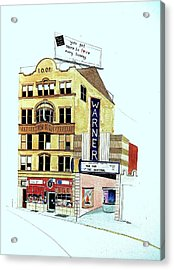 Warner Theater Acrylic Print by William Renzulli