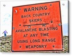 Warning Acrylic Print