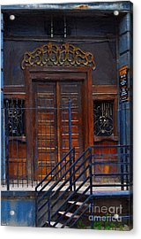 Warning Do Not Enter - Oil Painting Acrylic Print by Liane Wright