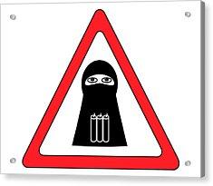 Warning Shahid Sign Acrylic Print