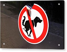 Warning To Dog Owners Acrylic Print by Mark Williamson