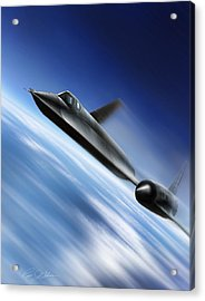 Warp Speed Acrylic Print by Peter Chilelli