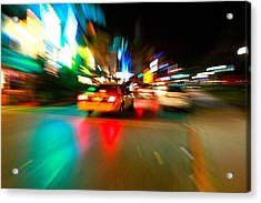 Warp Taxi Acrylic Print by Gary Dunkel