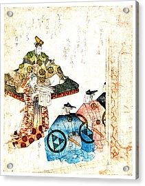 Warrior Hojo Yasutoki 1818 Acrylic Print by Padre Art