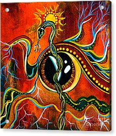 Acrylic Print featuring the painting Warrior Spirit Eye by Deborha Kerr