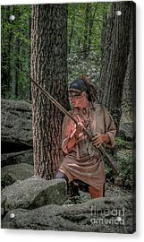 Warrior Stepping From Cover Acrylic Print by Randy Steele