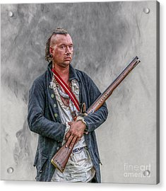 Warrior With Musket Portrait Acrylic Print