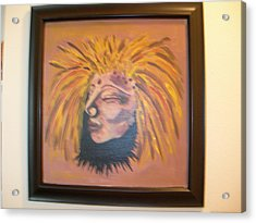 Acrylic Print featuring the painting Warrior Woman #1 by Sharyn Winters