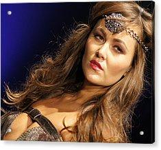Warrior Woman 2 Acrylic Print by DerekTXFactor Creative