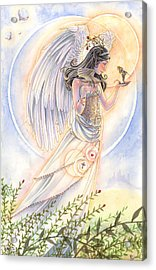 Warrior's Angel Acrylic Print by Sara Burrier