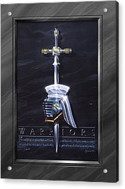 Warriors With Faux Matte Acrylic Print