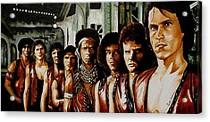 Warriors Come Out To Play Acrylic Print by Al  Molina