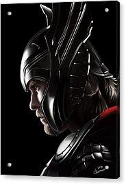 Warrior's Stare Acrylic Print by Kayleigh Semeniuk