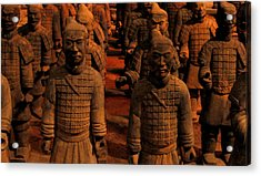 Acrylic Print featuring the photograph Warriors Terra Cotta by Patricia Januszkiewicz