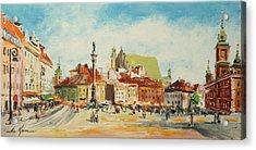 Warsaw- Castle Square Acrylic Print