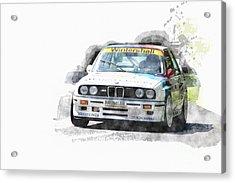 Warsteiner Bmw M3 Acrylic Print by Roger Lighterness