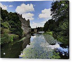 Warwick Castle Acrylic Print by Ron Grafe