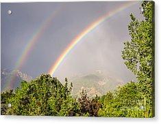 Wasatch Rainbow Acrylic Print