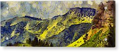 Wasatch Range Spring Colors Acrylic Print by Dan Sproul