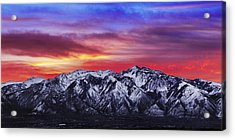 Wasatch Sunrise 2x1 Acrylic Print by Chad Dutson