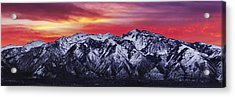 Wasatch Sunrise 3x1 Acrylic Print by Chad Dutson