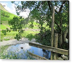 Wasdale Head Stile Acrylic Print by Kathy Spall
