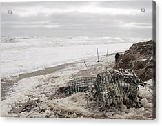 Wash A Shore From Storm Saturn  Acrylic Print by Eugene Bergeron