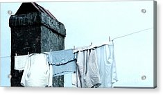 Acrylic Print featuring the photograph Wash Day Blues In New Orleans Louisiana by Michael Hoard