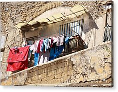 Wash Day The Old Way Acrylic Print