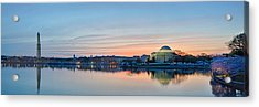 Wash Dc Cherry Blossoms Acrylic Print
