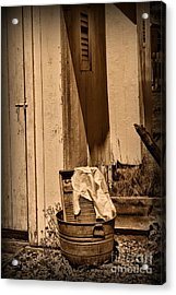 Washboard By The Outhouse Acrylic Print by Paul Ward