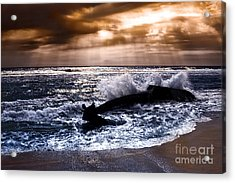 Washed Out To Sea - Outer Banks Acrylic Print by Dan Carmichael