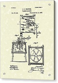 Washing Machine 1887 Patent Art Acrylic Print