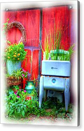 Washing Machine Art Acrylic Print by Mel Steinhauer