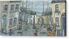 Washing Out And Playing Out Acrylic Print by Peter Adderley